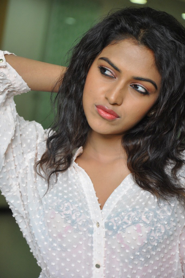 Amala Paul in Milky white Dress images