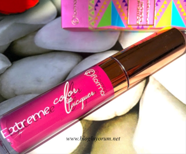 flormar extreme color lip lacquer 10 pop into my mind ruj