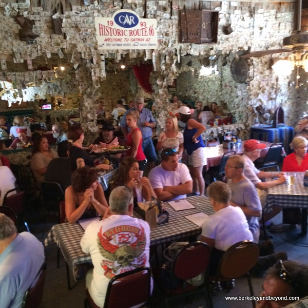 restaurant at Oatman Hotel in Gold Rush town of Oatman, Artizona
