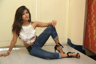 Deekshita Parvathi in a short crop top and Denim Jeans Spicy Pics Beautiful Actress Deekshita Parvathi January 2017 CelebxNext (160).JPG
