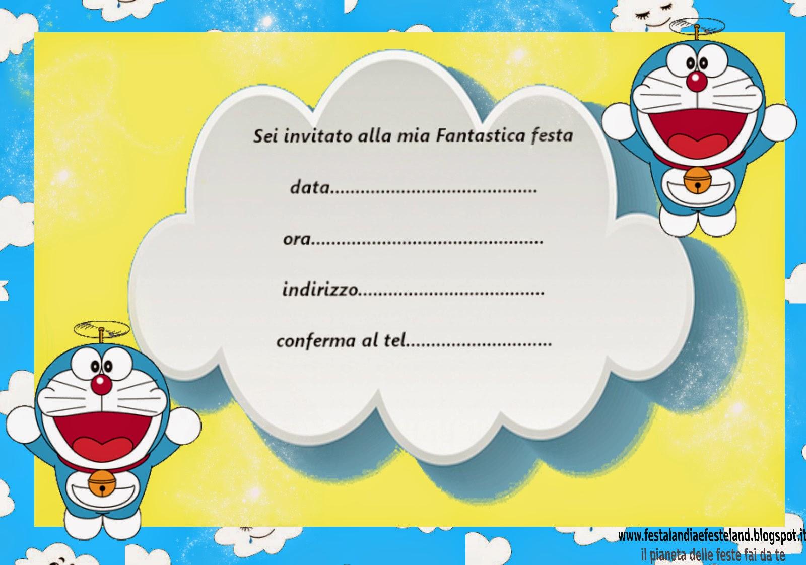 Amato Festalandia e Festeland: Doraemon party kit gratis JE56
