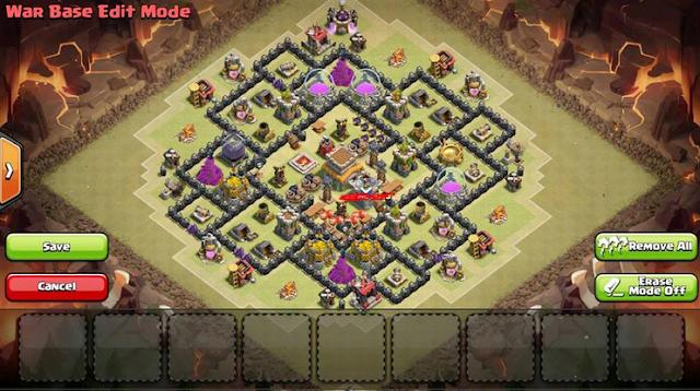 Base War COC TH 8 Terbaik