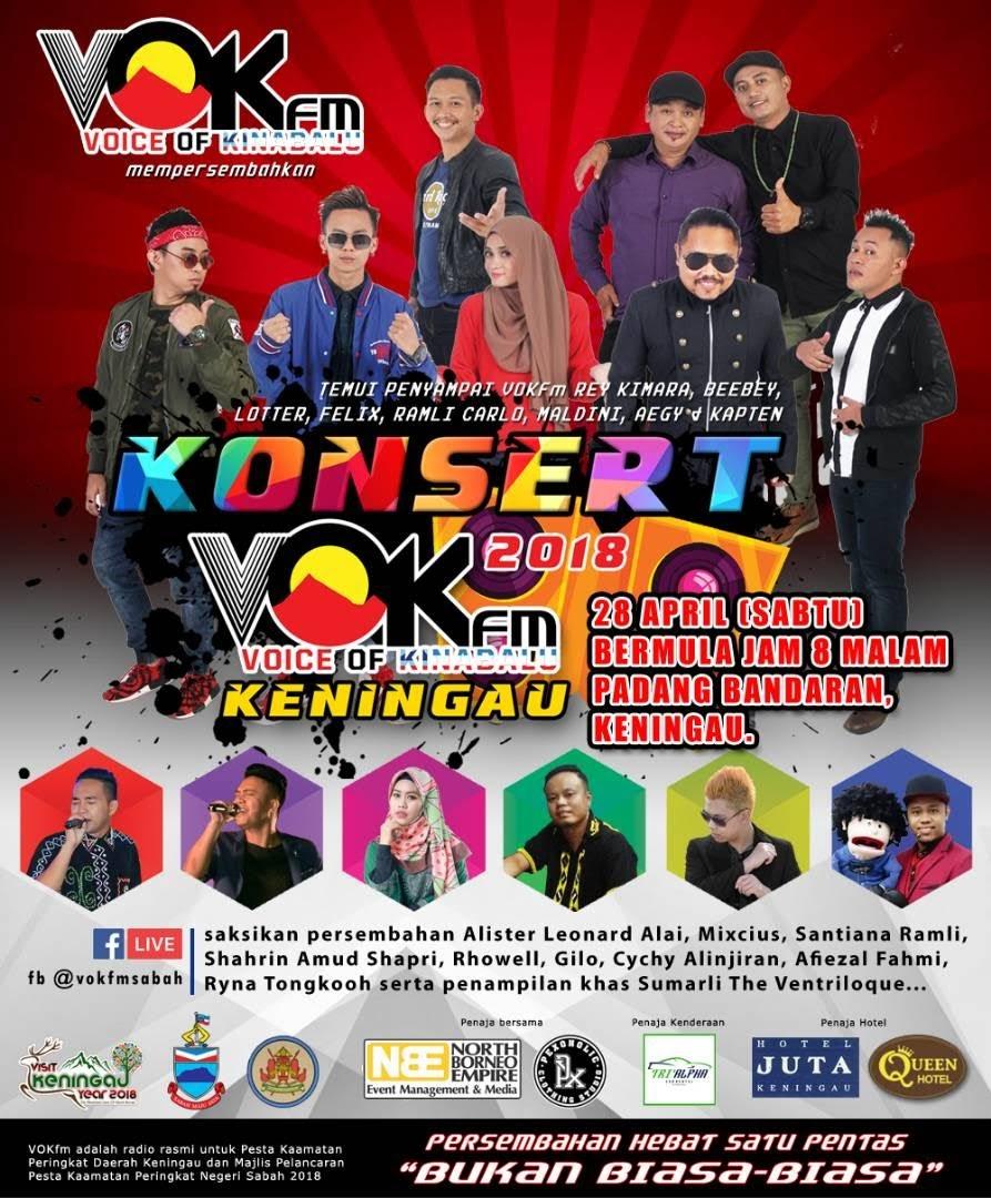 Konsert VOKfm 2018 di Keningau