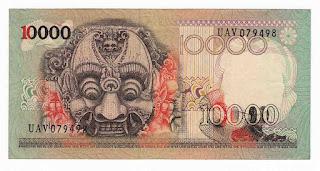 10000 Rupiah Barong Tahun 1975