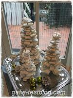 Basteln für Advent und Weihnachten - Papiertannenbäume
