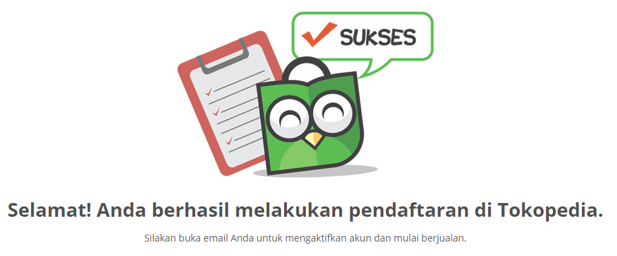 sukses email