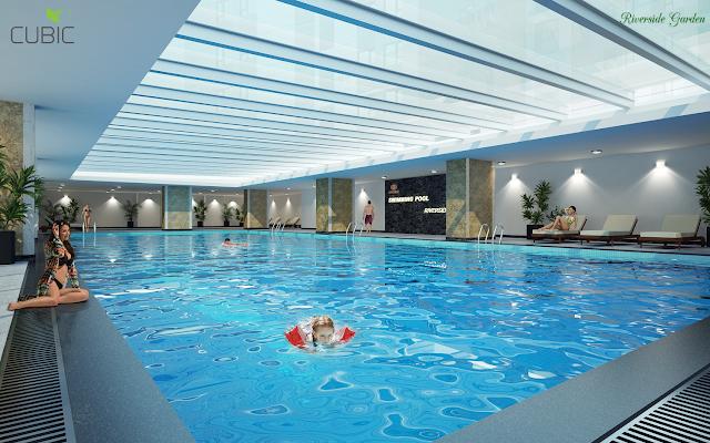 Bể bơi bốn mùa dự án Riverside Garden