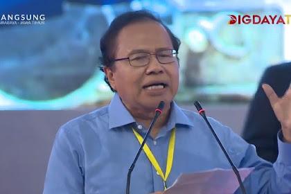 Rizal Ramli: Hai Jokowi, Katanya Kerja, Kerja, Kerja, Tapi Kok Memble?
