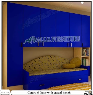 Lemari Baju Modern Minimalis dan Sofa Centro Blue