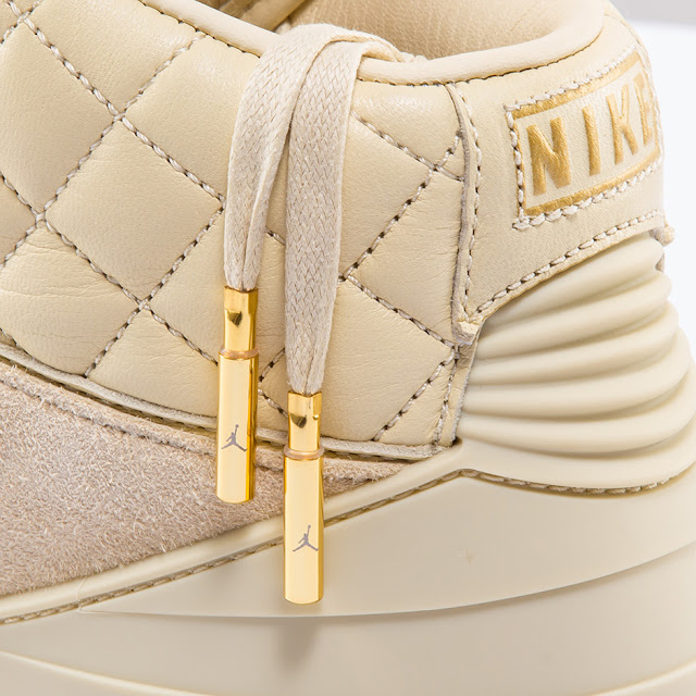 golden aglets detail Air Jordan 2 Beach