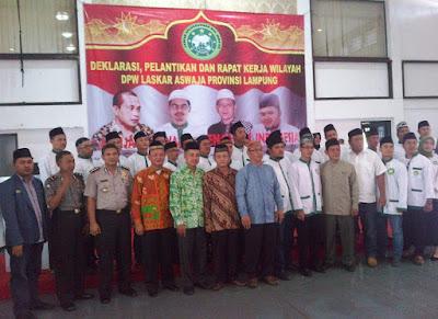 Warga Nahdiyin Lampung Deklarasikan Laskar Aswaja