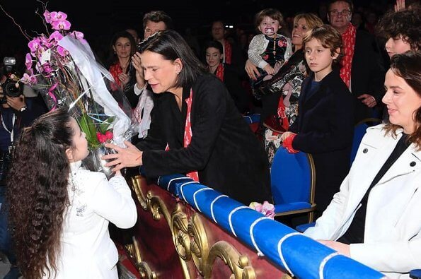 Pauline Ducruet , Princess Stephanie and Camille Gottlieb attended the 1st day of the New Generation Festival. Pauline Ducruet is President