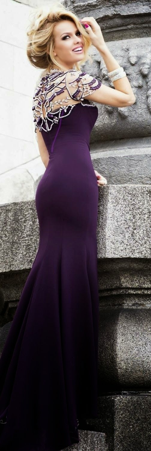Gorgeous plum color maxi gown