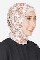 HijaBenka Nadhifah Leaf Hijab Brown Cream ANDHIMIND