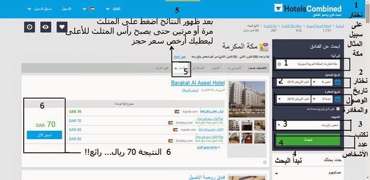 شرح مصور: كيف تحجز فندقك في مكة أو المدينة أو أي مكان في العالم بأرخص سعر