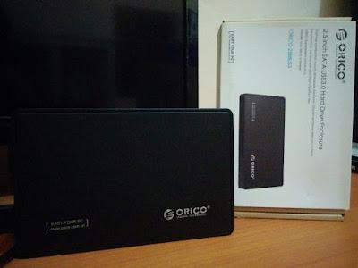 Ulasan singkat casing HDD-ex ORICO 2588US3