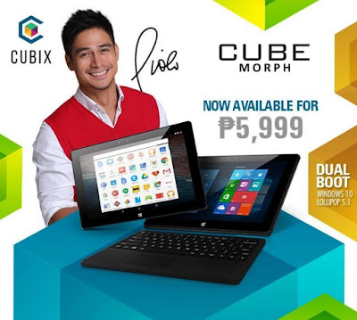 CUBIX Cube Morph Announced for Php5,999; 10-inch Dual Boot Tablet