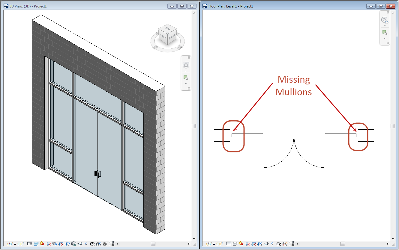 Ideate solutions finding missing revit mullions for View plans