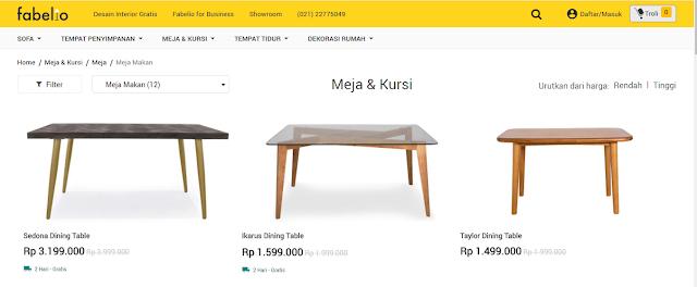 Meja Makan Model baru