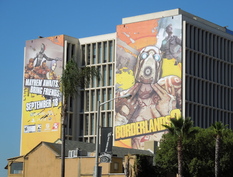 Borderlands 2 video game billboard