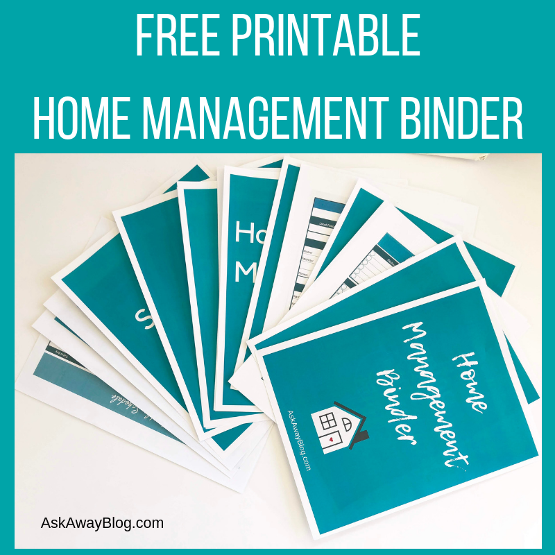 image relating to Free Binder Printables named Check with Absent Website: Just take Your Free of charge PRINTABLE House Handle