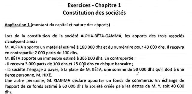 Exercices Corrigés + Examens de Comptabilité des sociétés