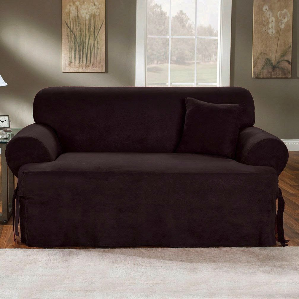 Couch cushion covers for Black furniture slipcovers