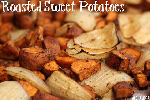 Roasted Sweet Potatoes. Oven Baked.  Amazing. Delicious.  Add any other vegetables/veggies you want.  My Favorite and the BEST way to cook healthy vegetables kids and the whole family loves. Gluten Free, Diet Friendly, Healthy, Macro. .Alohamora Open a Book http://alohamoraopenabook.blogspot.com/