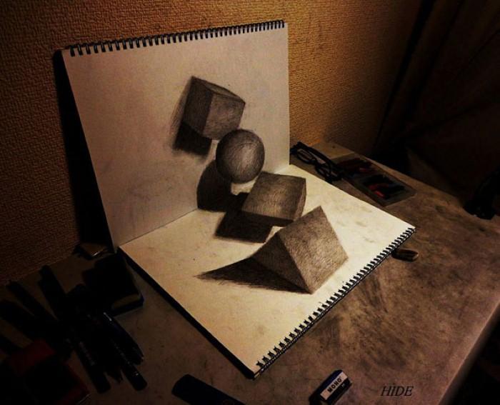 3D иллюзии. Nagai Hideyuki 19