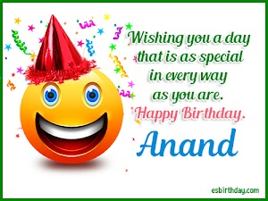 Happy Birthday Anand