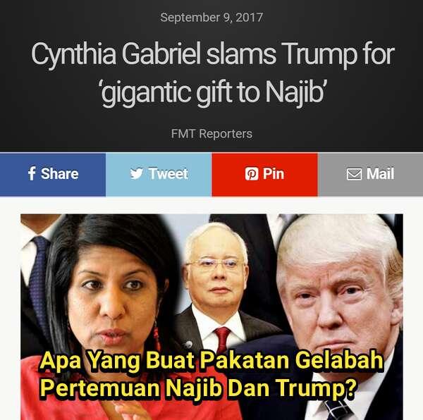 Apa Yang Buat Pakatan Gelabah Pertemuan Najib Dan Trump?