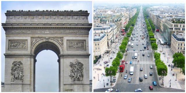 Arco de Triunfo en Étoile, plaza Charles de Gaulle – Vista de los Campos Elíseos desde el Arco de Triunfo