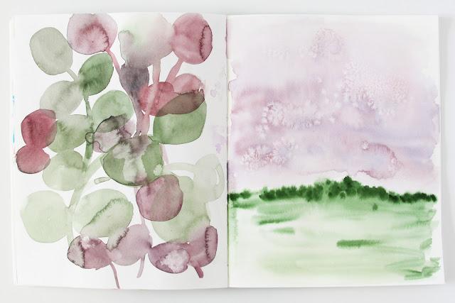 2x2, #2x2sketchbook, Dana Barbieri, Anne Butera, Watercolor