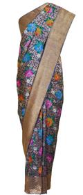 Meenakari-Kadhwa Zari Jamawar Banarasi Royal Blue Saree