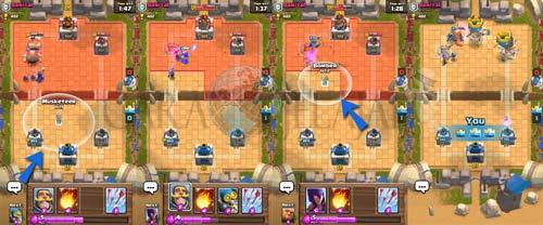 Cara menang di Clash Royal dengan menggunakan fitur mod Show Attack Range when deployet di Clash Royale