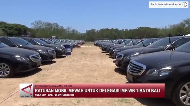 Ratusan Mobil Mewah untuk Delegasi IMF-WB Tiba di Bali, Pemerintah Tak Hiraukan Protes