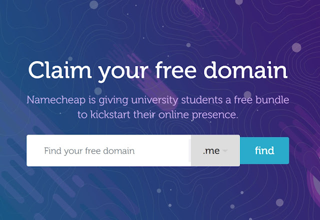 Let Get Free .ME Domain Name for Students at Namecheap