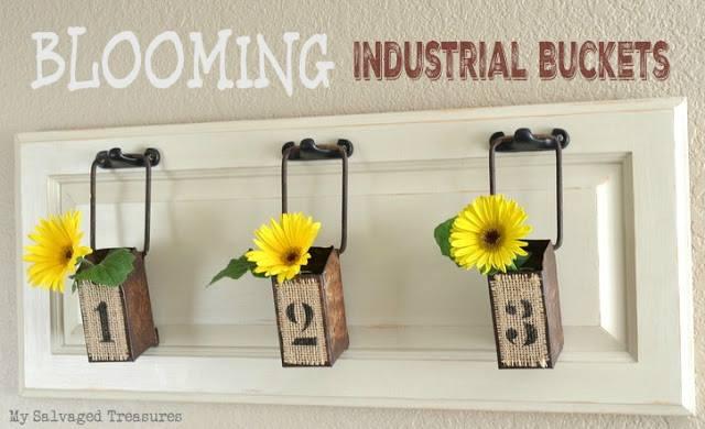 Blooming Industrial Buckets