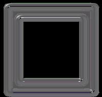 Moldura quadrada prata  - criação Blog PNG-Free