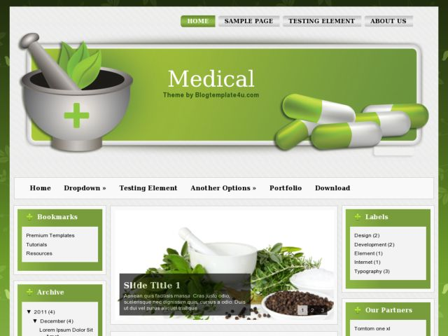 Medical Theme Blogger Template