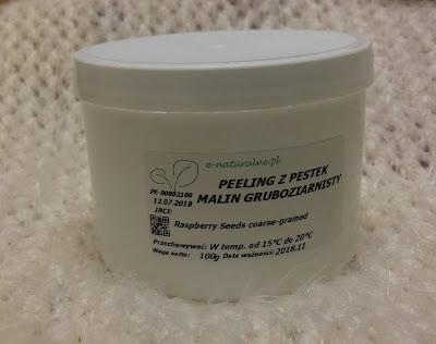 Gruboziarnisty peeling z pestek malin - e-naturalne.