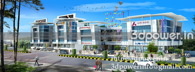 """""""Architectural rendering Of Mall"""""""