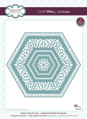 Creative Expressions Noble Collection Lavish Accented Hexagons Dies CED5520