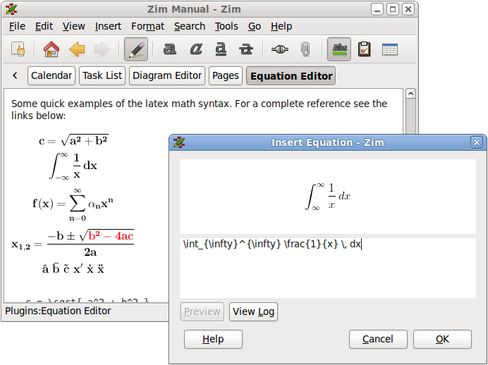 Zim Text Editor 0 58 Allows Now To Export LaTeX Equations