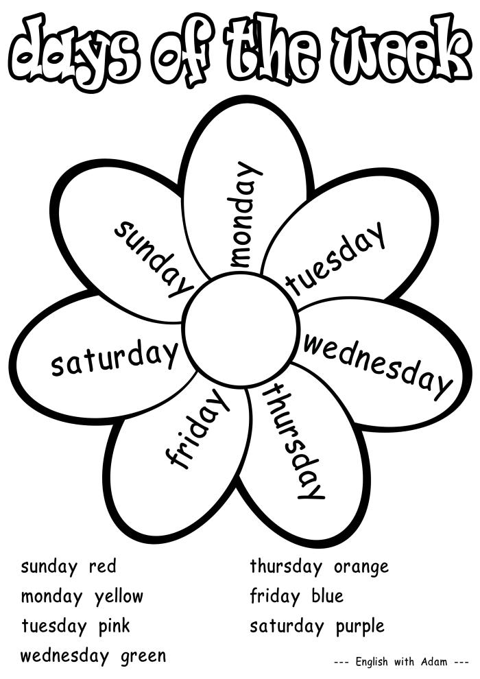 L@s peques bilingües del Juan de Mena: DAYS OF THE WEEK