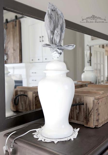 Valspar Milk Glass Painted Ginger Jar Lamps Bliss-Ranch.com