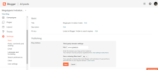 setup a Custom domain on Blogger blog with Godaddy