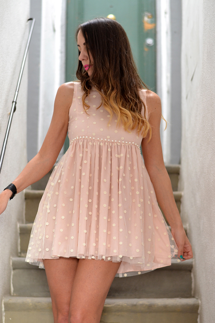 romantic pink dress