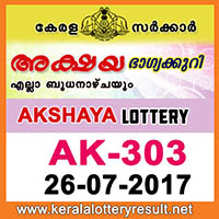 kl result yesterday,lottery results, lotteries results, keralalotteries, kerala lottery, keralalotteryresult, kerala lottery result, kerala lottery result live, kerala lottery results, kerala lottery today, kerala lottery result today, kerala lottery results today, today kerala lottery result, kerala lottery result 26.7.2017 akshaya lottery ak 303, akshaya lottery, akshaya lottery today result, akshaya lottery result yesterday, akshaya lottery ak303, akshaya lottery 26.7.2017