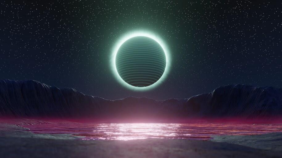 Lunar Eclipse, Digital Art, Night, Scenery, 4K, #6.1038